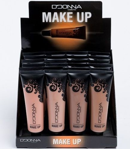 MAQUILLAJE FLUIDO TUBO 4 COLORES (0.59€' UNIDAD) PACK 24 D'DONNA