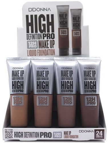 MAQUILLAJE FLUIDO HIGH DEFINITION PRO 12H.(0.65€ UNIDAD) PACK 24 D'DONNA