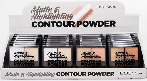 POLVO COMPACTO MATTE HIGHLIGHTING  (0.73€ UNIDAD)PACK 24 D'DONNA