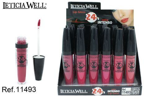 LIPGLOSS COLOR INTENSO 24H. 6 COLORES(0.65€' UNIDAD) PACK 24 LETICIA WELL