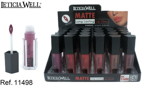 LIPGLOSS MATTE 6 COLORES (0.69€'UNIDAD) PACK 24 LETICIA WELL