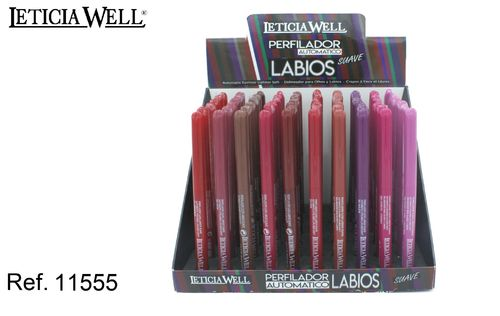 PERFILADOR AUTOMATICO LABIOS 10 color (0.35€ UNIDAD) PACK 60 LETICIA WELL