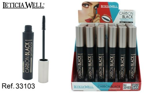 MASCARA DE PESTAÑAS CARBON BLACK(0.65€ UNIDAD) PACK 24 LETICIA WELL