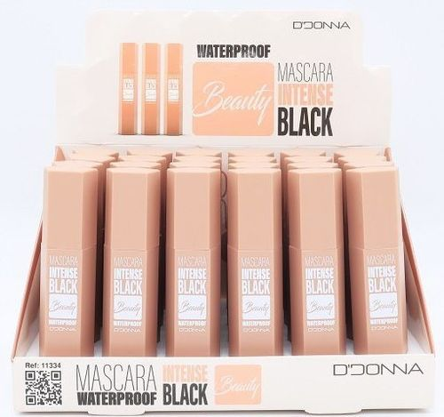 MASCARA DE PESTAÑAS INTENSE BLACK WATERPROOF(0.59€ UNIDAD) PACK 24 D'DONNA