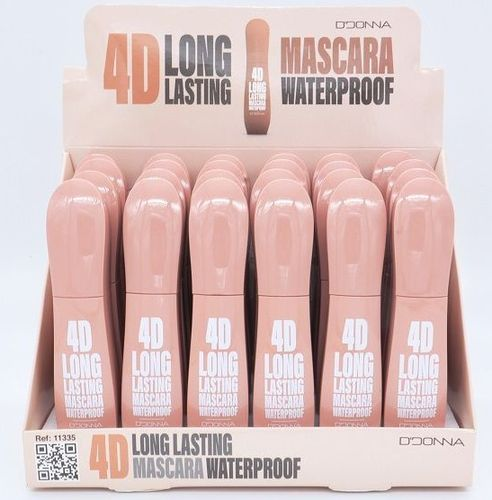 MASCARA DE PESTAÑAS 4D WATERPROOF LONG LASTING(0.59€ UNIDAD) PACK 24 D'DONNA