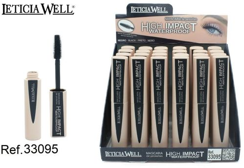 MASCARA DE PESTAÑAS NEGRA HIGH IMPACT NEGRA(0.82€' UNIDAD) PACK 24 LETICIA WELL