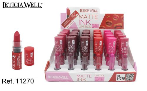 BARRA DE LABIOS MATTE INK 24H.(0.75€ UNIDAD) PACK 24 LETICIA WELL