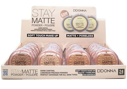 POLVO COMPACTO STAY MATTE(0.80€ UNIDAD) PACK 24 D'DONNA